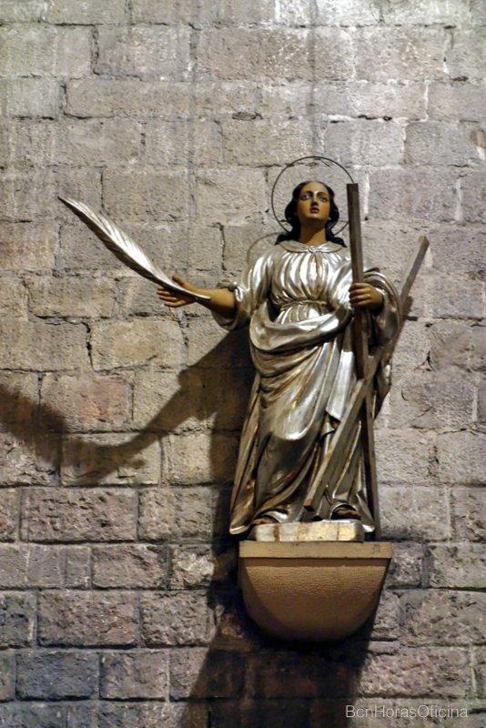 Imagen de Santa Eulália en la Basílica de Santa Maria del Mar