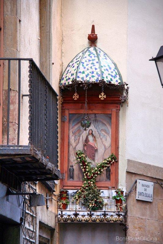 Capilla dedicada a la Santa en la Baixada de Santa Eulàlia