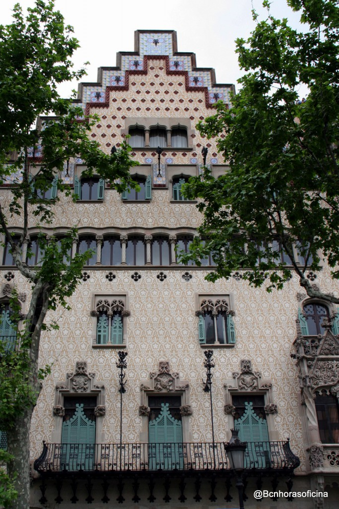 La Casa Amatller en Passeig de Gràcia, obra de Puig i Cadafalch