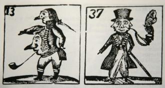 Dibujos antiguos que muestran graficamente la farsa