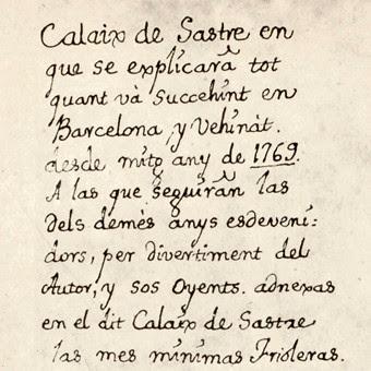 Calaix de Sastre, una verdadera crónica sodial de la Barcelona de finales del XVIII y principios del XIX