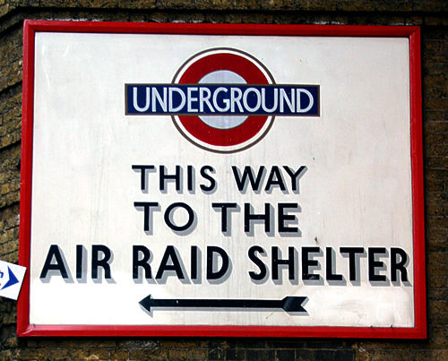 El metro de Londres como refugio antiáreo