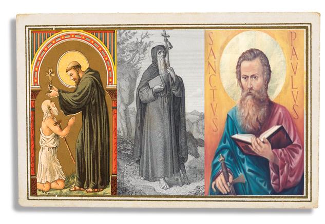 Sant Pau Anacoreta, Sant Antoni Abat y Sant Maur