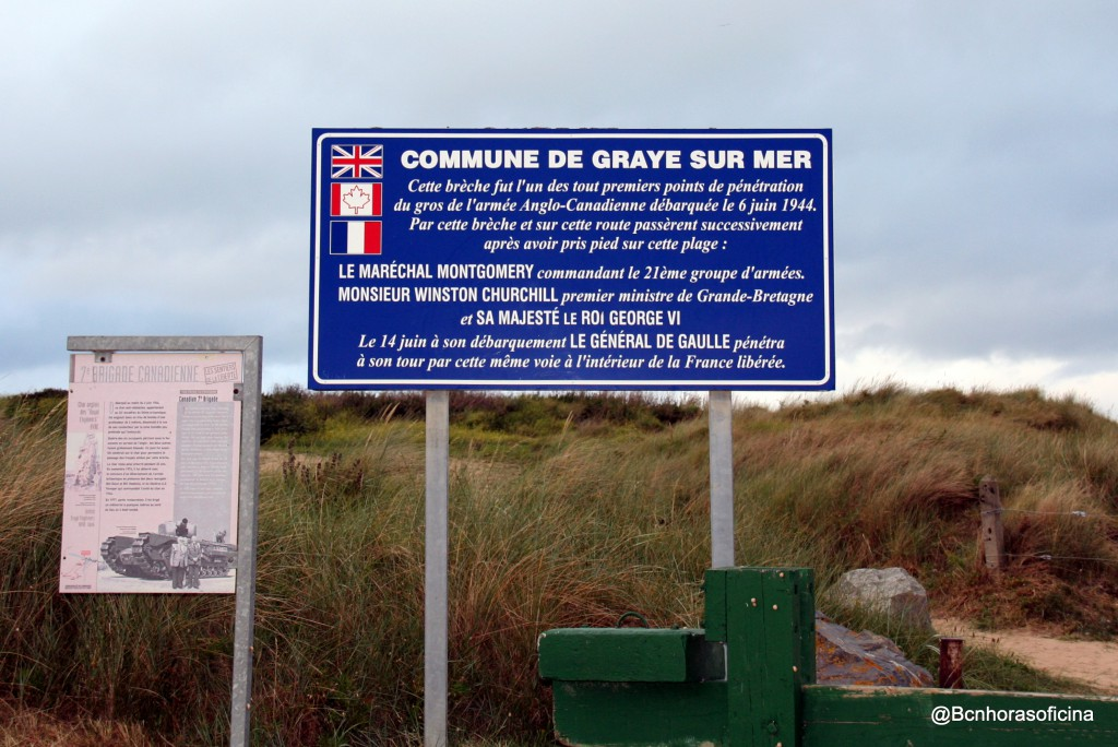Playa de Normandia donde desembarcaron las primeras autoridades tras el Dia D