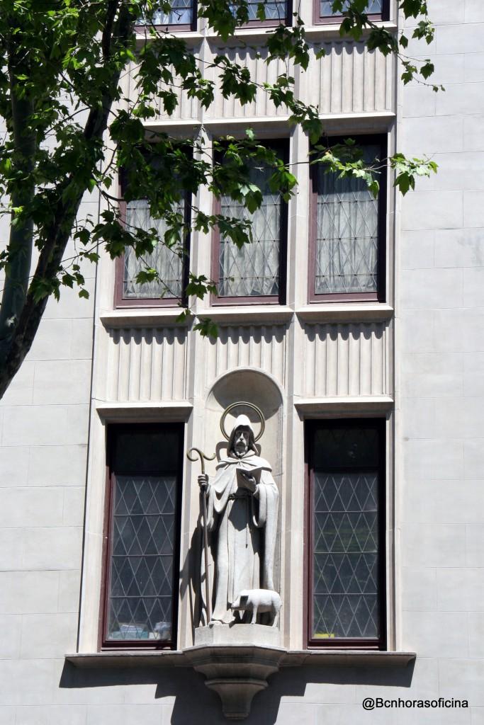 Imagen de Sant Antoni en el colegio de los Escolapios