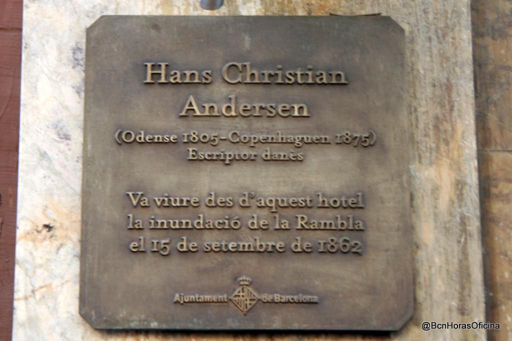 Hans Christian Andersen en el Hotel Oriente de La Rambla