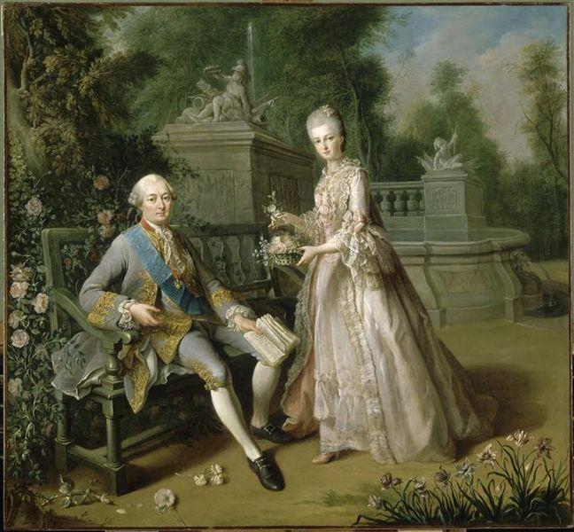 El duque de Penthièvre y su hija María Adelaida