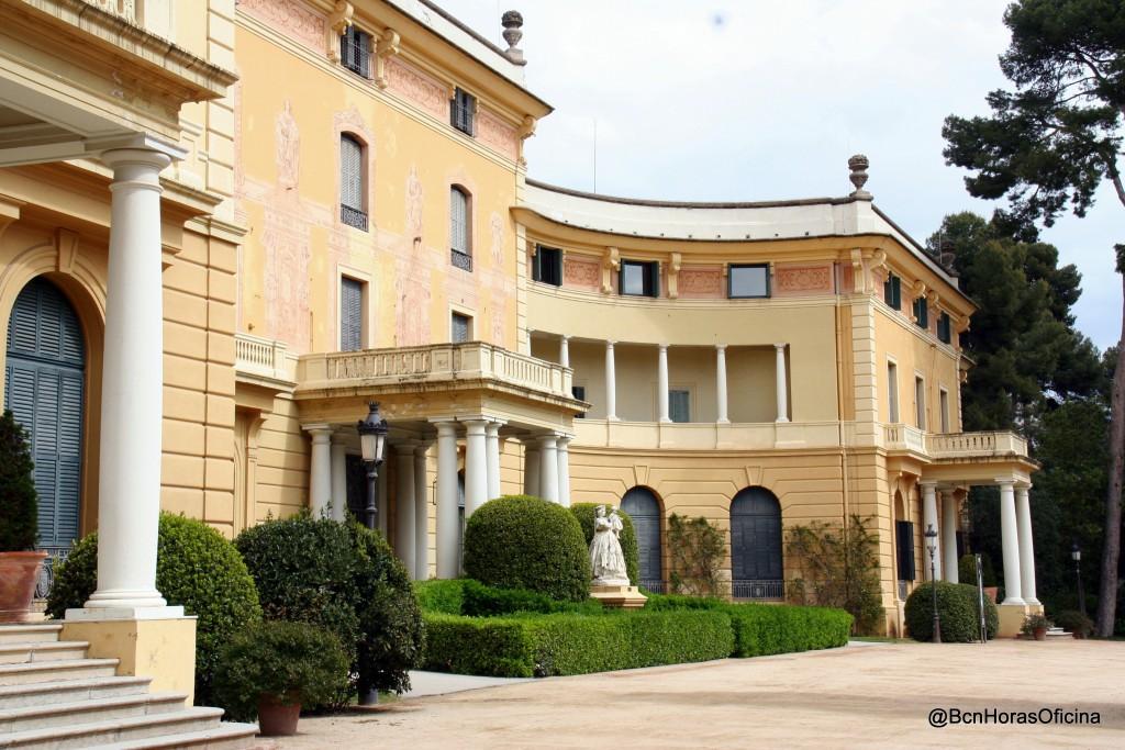 Entrada principal al Palau de Pedralbes
