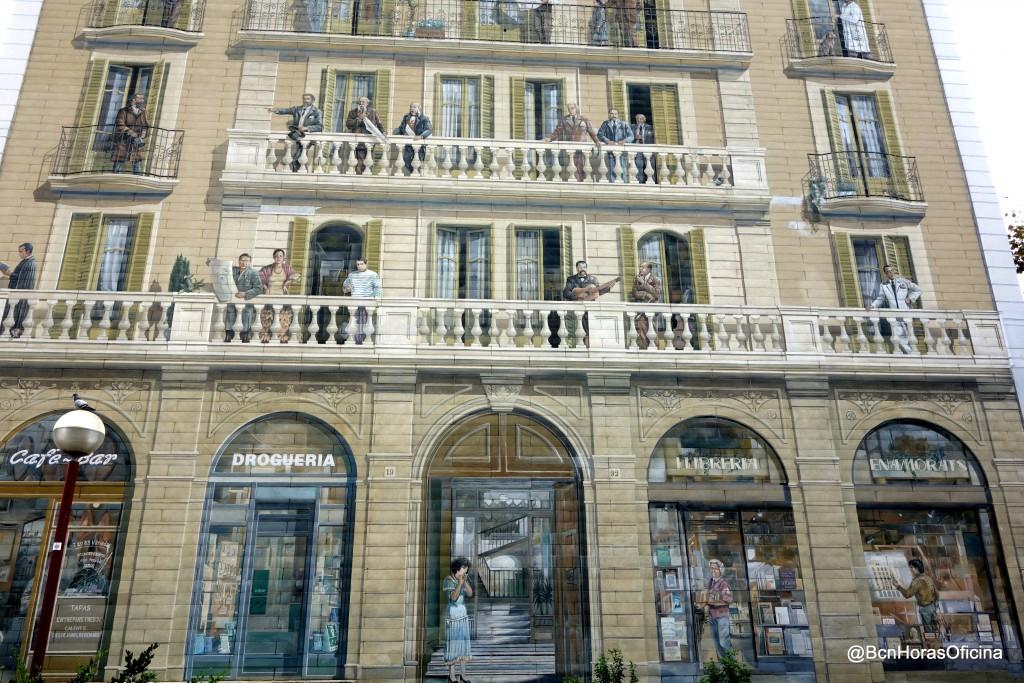 "Fachada de ""Els balcons de Barcelona"""