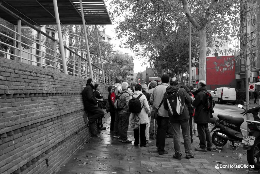 De camino hacia el lugar por donde pasaba la antigua travessera de Gràcia