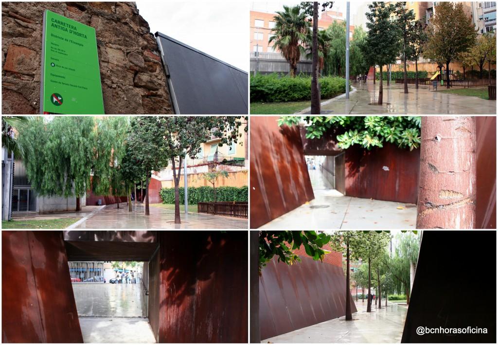 Imágenes variadas del parque que recuerda el inicio de la antigua carretera