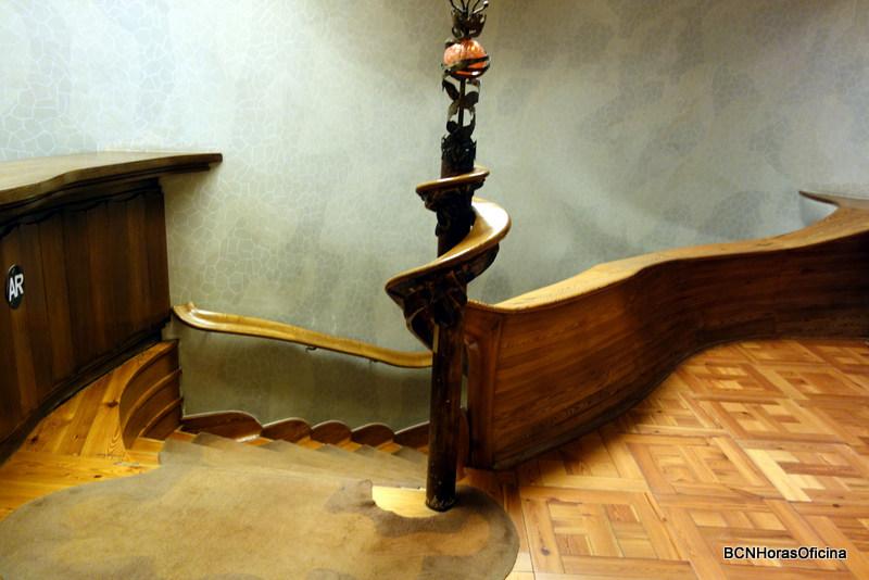 Escalera de acceso a la zona noble