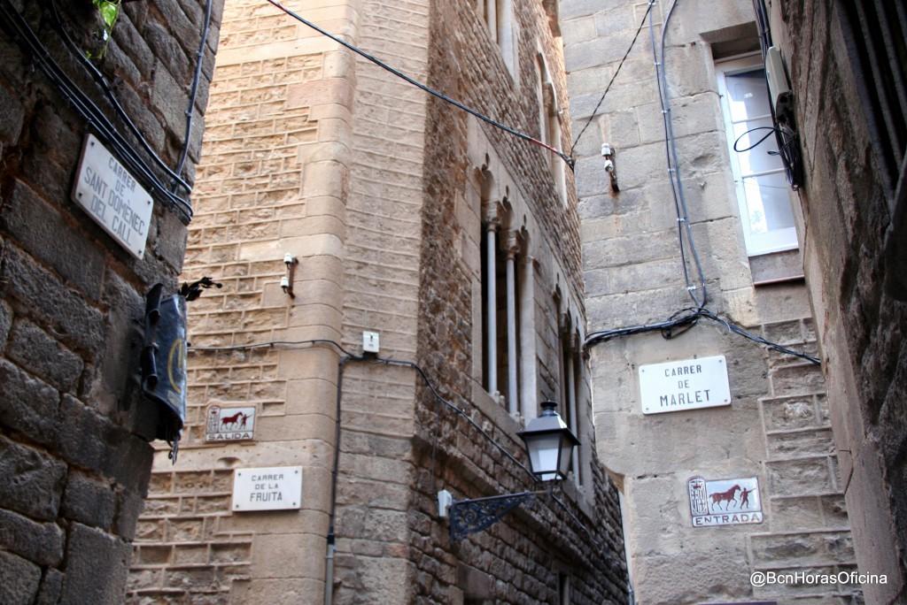 Antiguas calles comerciales del Call