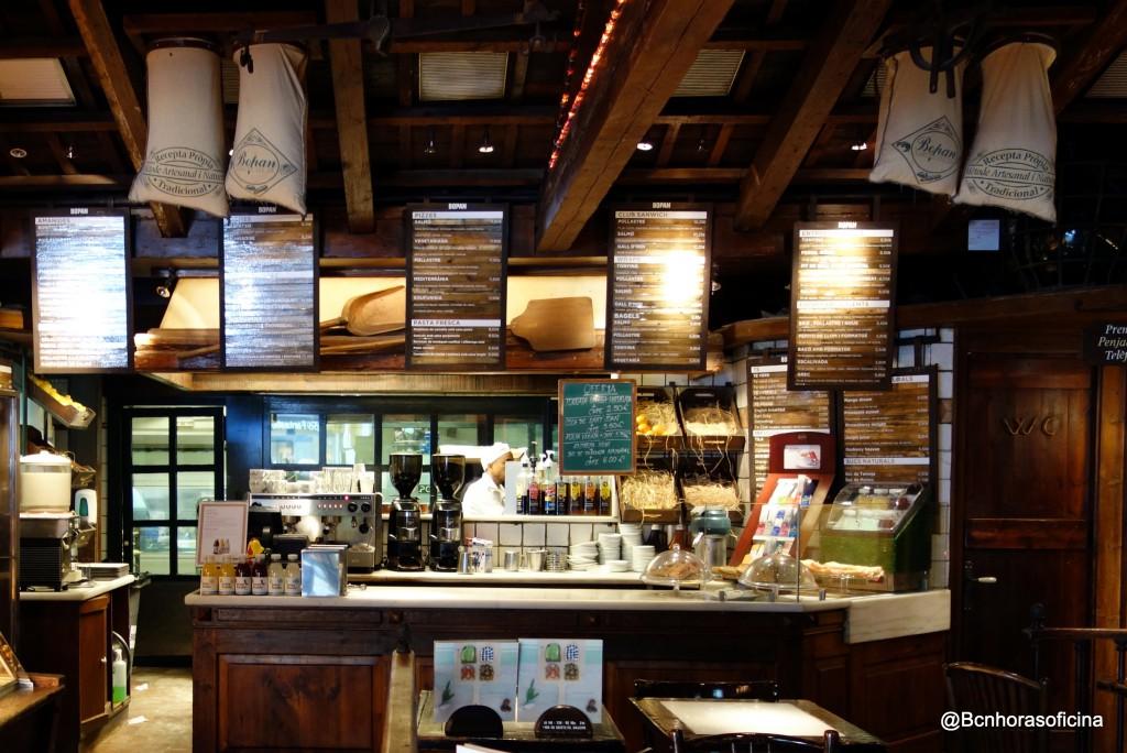 Visión del obrador desde la cafetería