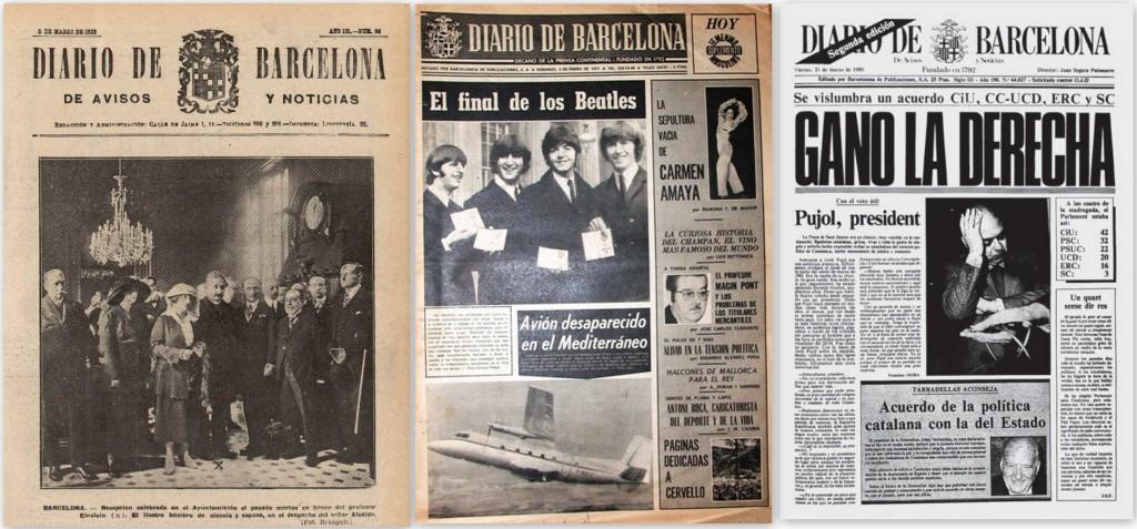 Evolución de la imagen del periodico a lo largo de su historia