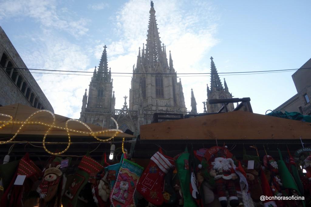 Fira de Santa Llúcia junto a la Catedral