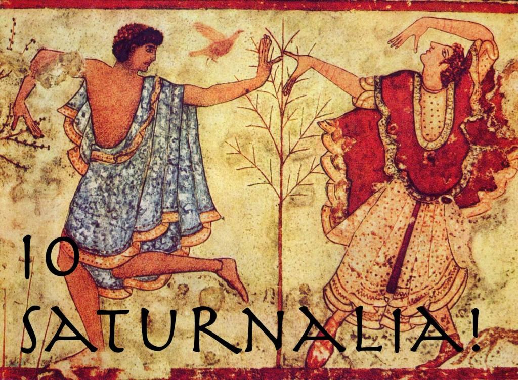 Mural representando las Saturnalias