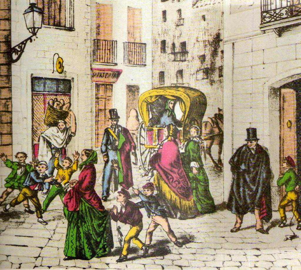 Los Santos Inocentes en un grabado del siglo XIX