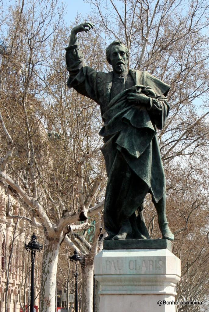 Estatua de Pau Claris situada en la Avda. Lluis Companys de Barcelona