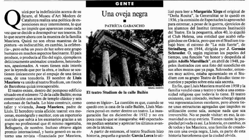 La Vanguardia. Lunes, 27 de mayo de 1996