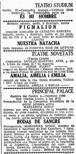 La Vanguardia. Viernes, 22 de noviembre de 1935