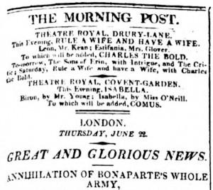Crónica de la victoria en Waterloo
