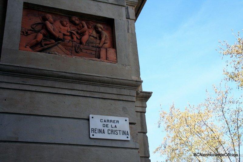 Calles con nombre de mujer en Barcelona: Calle Reina Cristina