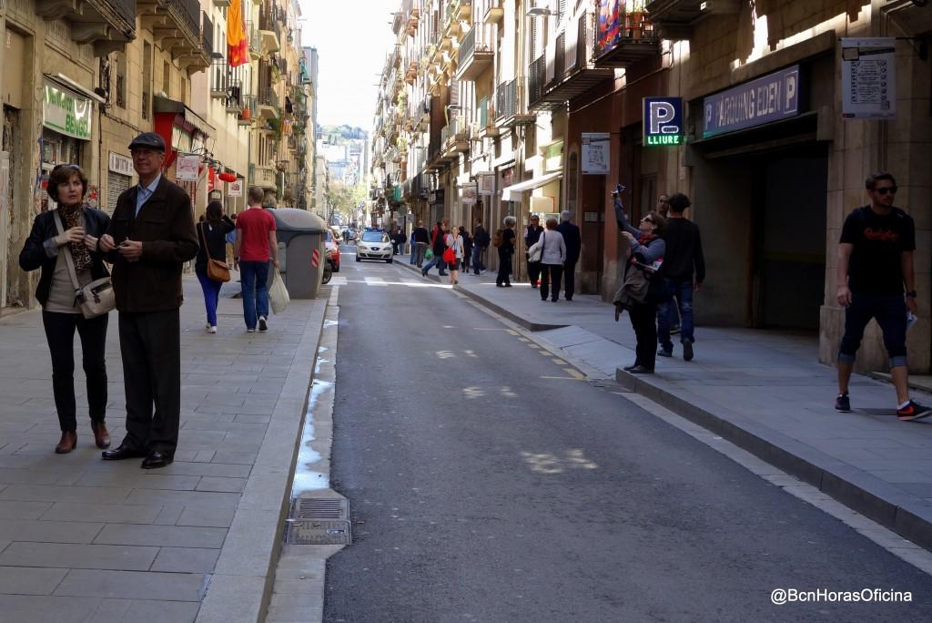 La calle a la altura de la Rambla