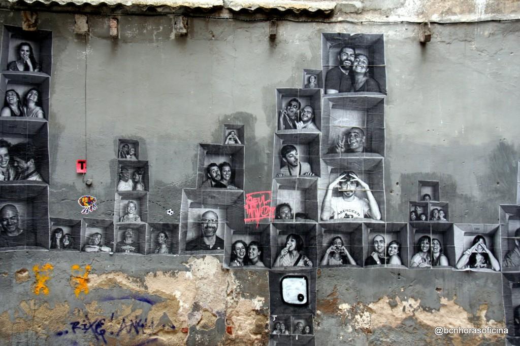 El muro de Canvis Nous...