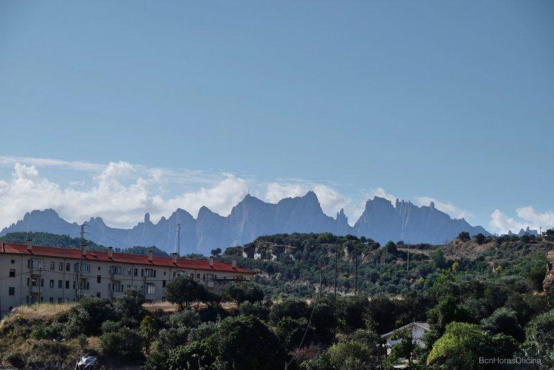 Vistas a Montserrat desde Manresa